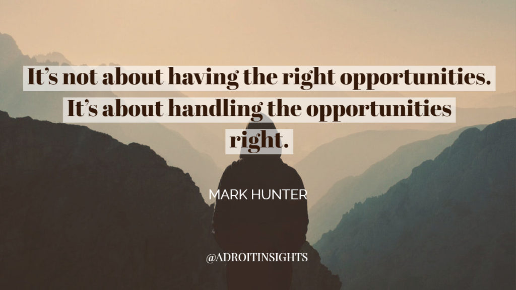 adroit insights mark hunter man looking at mountains reflecting opportunity